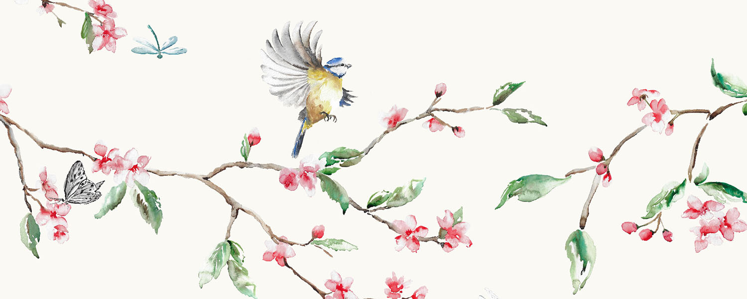 Blossom bird fabric.