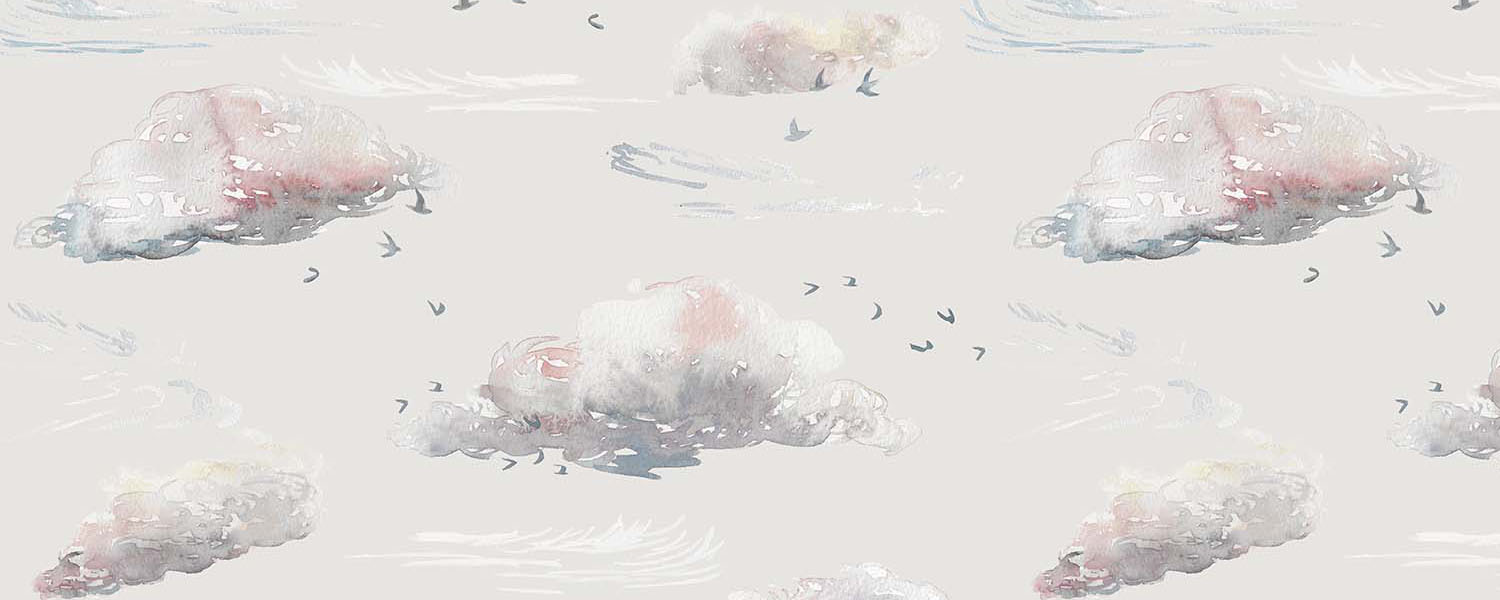Whimsical, dreamy new cloudscape wallpaper