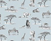 Safari Fabric - Grey coplourway 0