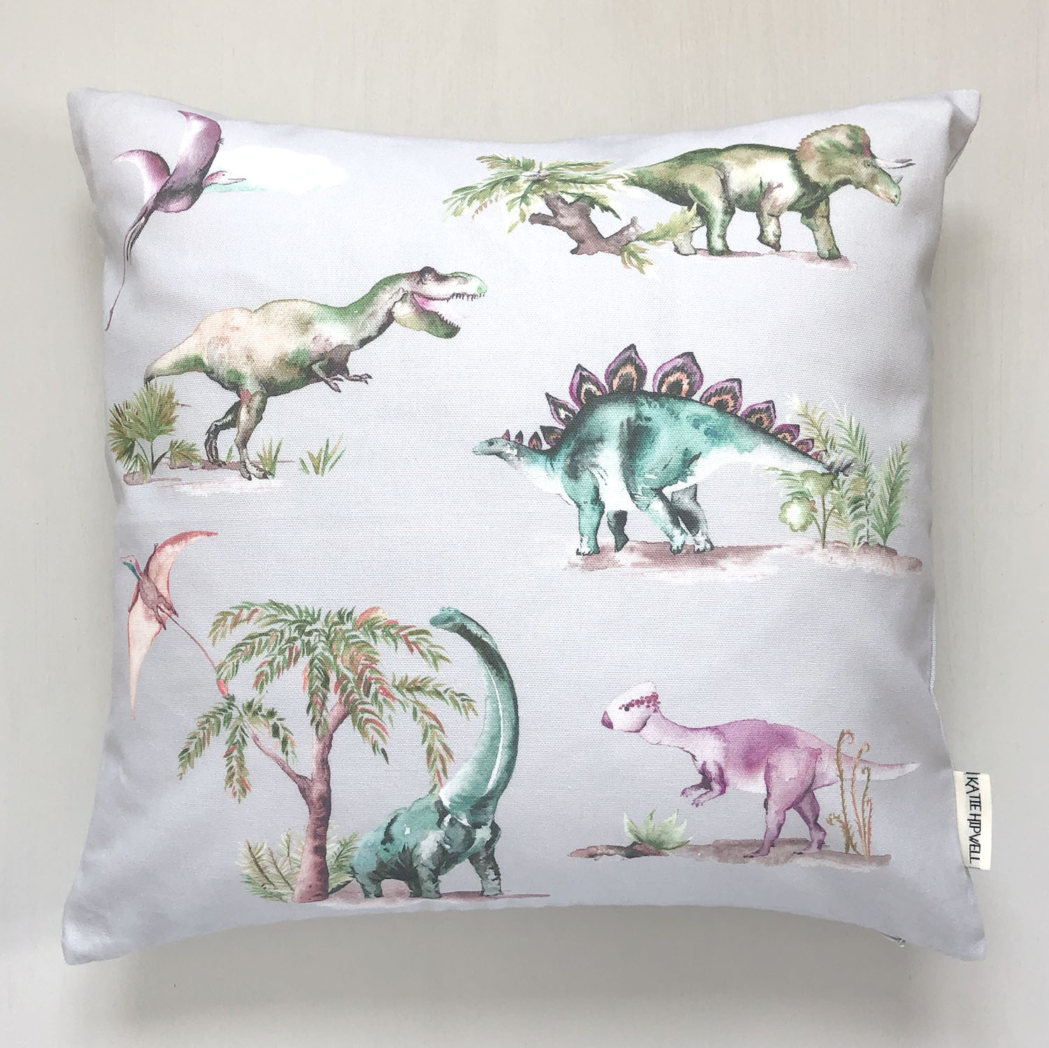 Dinosaurs Grey Cushion