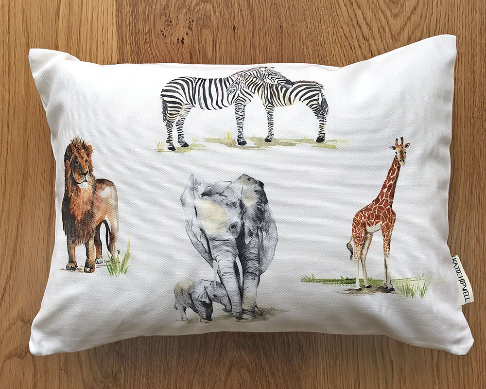 Safari Ivory Small Cushion