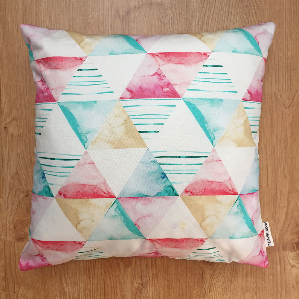 Shapes Aqua Cushion